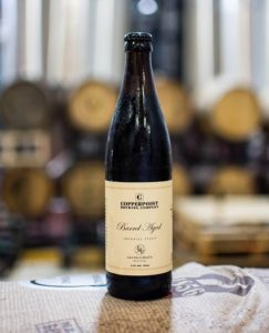 Photo of Copperpoint Brewing Company Barrel Aged Imperial Stout beer collaboration with Eau Palm Beach Resort.